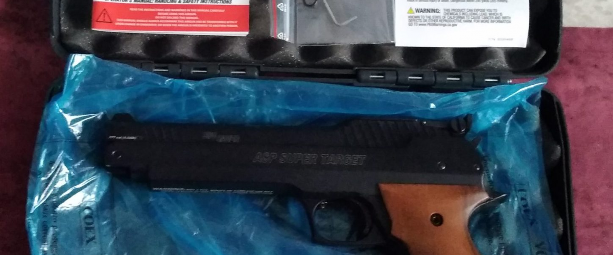 Pistol with its instructions and paperwork